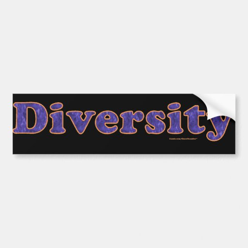 Diversity Car Bumper Sticker