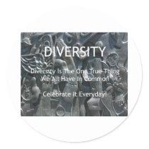 Diversity Classic Round Sticker
