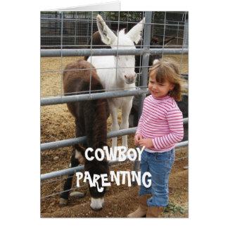 Diversity - Cowboy Parenting Greeting Card