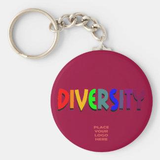 Diversity Custom Burgandy Keychain
