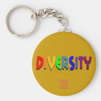 Diversity Custom Dark Gold Keychain