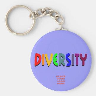 Diversity Custom Darker Periwinkle Keychain