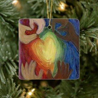 Diversity DEI Hearts Holiday Gift Ornament