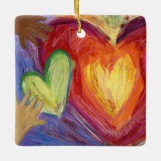 Diversity DEI Hearts Holiday Gift Ornaments