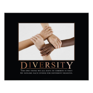 Diversity Demotivational Poster at Zazzle