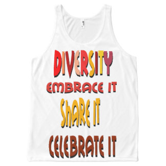 Diversity Embrace It All-Over Printed Unisex Tank
