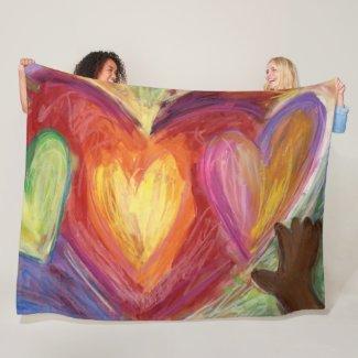 Diversity, Equity, Inclusion Fleece Throw Blanket