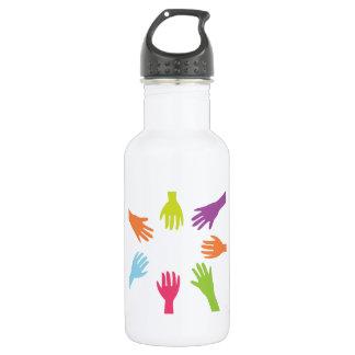 Diversity Hands 18oz Water Bottle