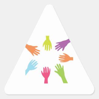 Diversity Hands Triangle Sticker