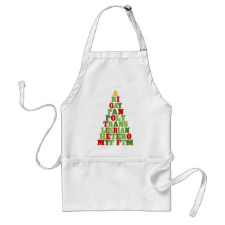 Diversity Holiday Tree Adult Apron