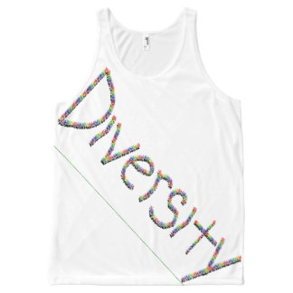 Diversity in Words All-Over Printed Unisex Tank, L All-Over-Print Tank Top