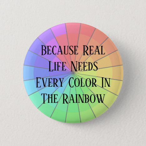 Diversity Inclusion Political Rainbow Buttons