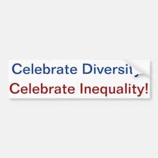 diversity inequality etiqueta de parachoque