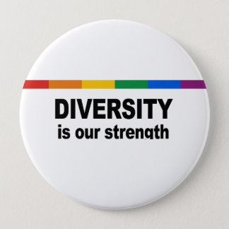 Diversity is a strength pinback button
