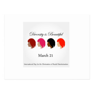 Diversity is beautiful- March 21 Postcard