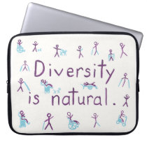 """""""Diversity is natural"""" laptop sleeve"""