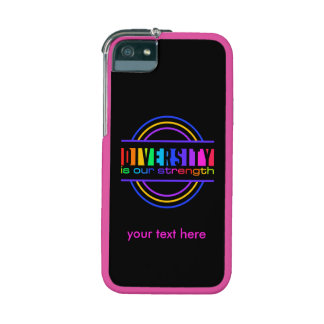 """""""Diversity is our strength"""" custom cases Case For iPhone 5"""