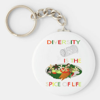 Diversity Is the Spice of Life Basic Round Button Keychain