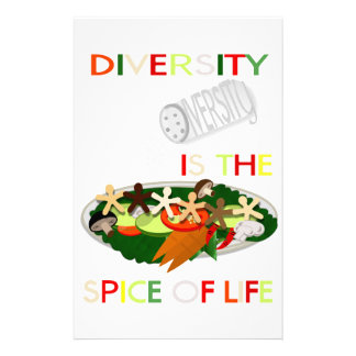 Diversity Is the Spice of Life Personal Stationery