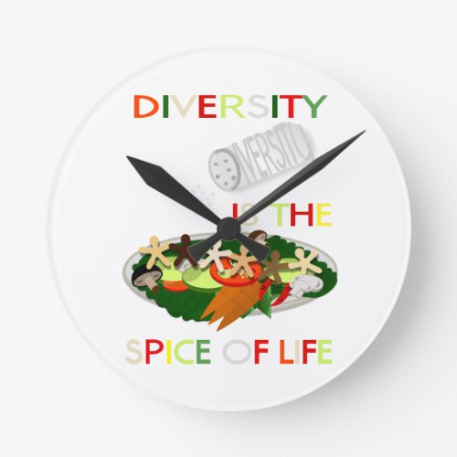Diversity Is the Spice of Life Wall Clock