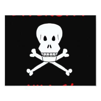 diversity kills skull and crossbones card