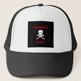diversity kills skull and crossbones trucker hat