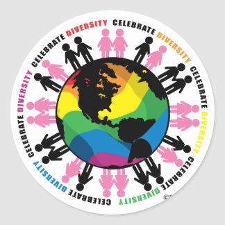 Diversity LGBT Classic Round Sticker