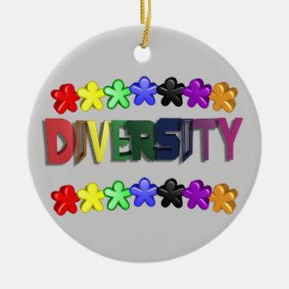 Diversity Lil People Circular Ceramic Ornament