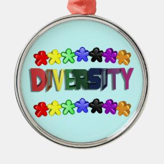 Diversity Lil People Circular Metal Ornament