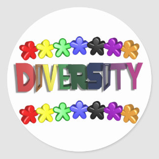 Diversity Lil People Circular Classic Round Sticker