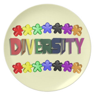 Diversity Lil People Dinnerware Plate