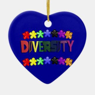 Diversity Lil People Heart Ceramic Ornament