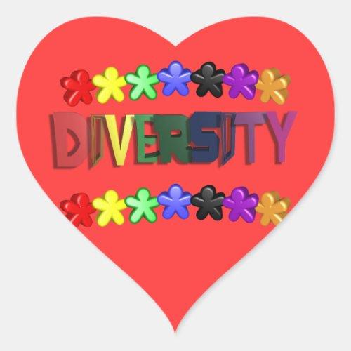 Diversity Lil People Heart Sticker
