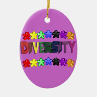 Diversity Lil People Oval Ceramic Ornament