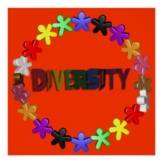 Diversity Lil People Poster