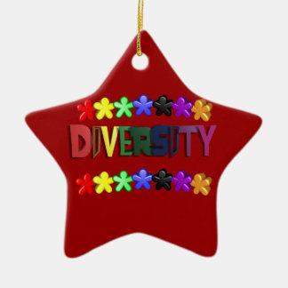 Diversity Lil People Star Ceramic Ornament