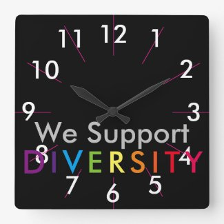 Diversity Pride Clock Rainbow Gifts CricketDiane