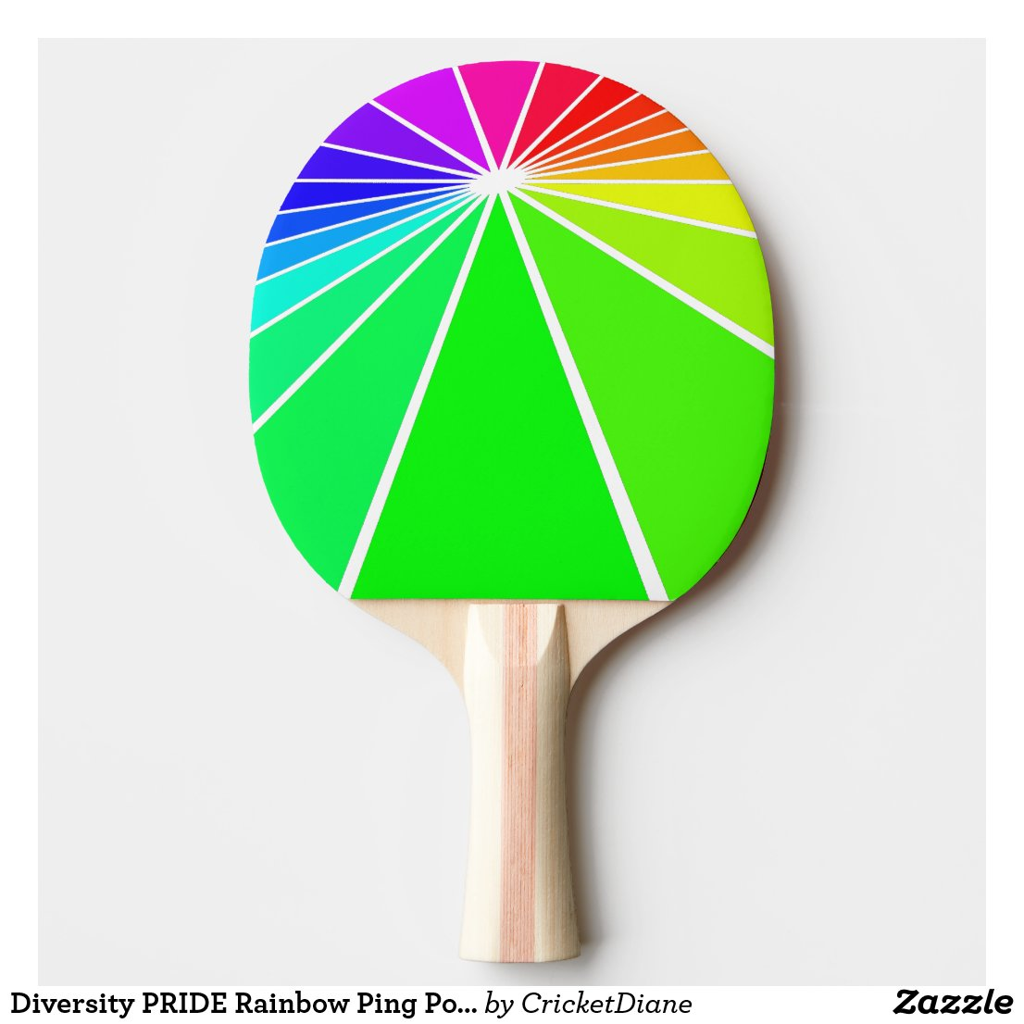Diversity PRIDE Rainbow Ping Pong Paddles