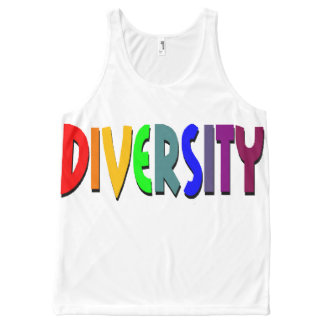 Diversity Rainbow All-Over Printed Unisex Tank, L All-Over-Print Tank Top