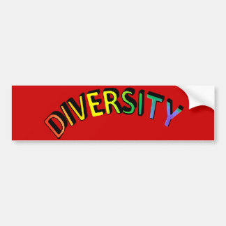 Diversity Rainbow Bumper Sticker