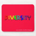 Diversity (Rainbow) Mousepad (vertical style)