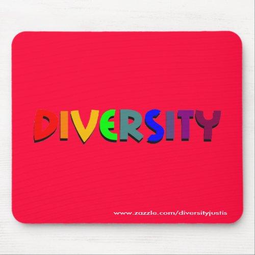 Diversity (Rainbow) Mousepad (vertical style)