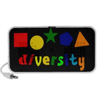 Diversity Shapes Doodle iPhone Speaker
