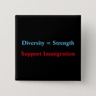 diversity=strength pinback button