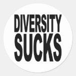 Diversity Sucks Round Sticker