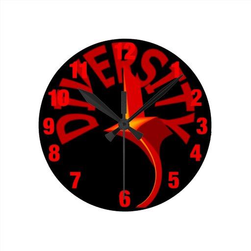Diversity Swirling Star Clock