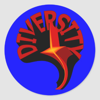 Diversity Swirling Star Stickers