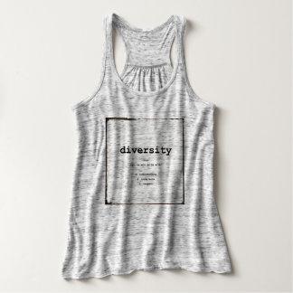 Diversity Woman's Racerback T-shirt Grey