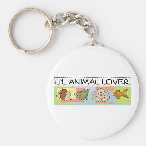 Diverso amante del animal de mascotas llaveros