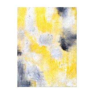 """""""Diverso"""" arte abstracto negro y amarillo Lona Estirada Galerias"""